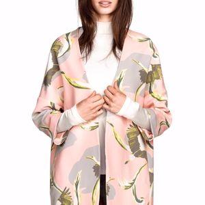 H&M Pink Crane Blazer Jacket - size XS